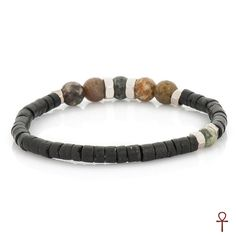 Amun Nature Leather Beaded Bracelet From 2016 nature collection of Amun. Product inspired from colors of nature. Used natural products such as plants and natura