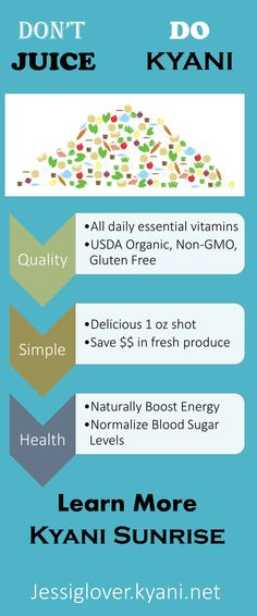 Save time and $$ with Kyani Sunrise without jeopardizing nutritional integrity!