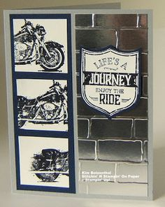 Stampin' Up! One Wild Ride - Mission Contest from June card 3 Dad Birthday Card, Birthday Cards For Men, Male Birthday, Masculine Birthday Cards, Masculine Cards, Scrapbooking, Scrapbook Cards, Hand Stamped Cards, Boy Cards
