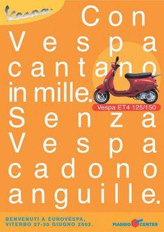 Publicité Vespa Vintage Chanson