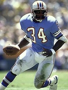 Earl Campbell - Houston Oilers - RB (and Hot Sausage King) Sport Football, Football Players, Football Helmets, American Football League, National Football League, Americana Retro, Best Running Backs, Earl Campbell, Houston Oilers
