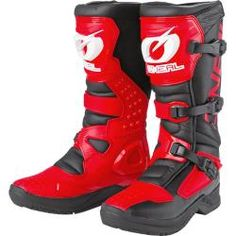 Oneal Rsx Motocross Stiefel Schwarz Rot 42 O'Neal