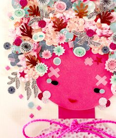 Paper Doll 026. Original Paper Collage. by KupKupLand on Etsy