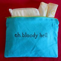 """Indiscreet """"oh bloody hell"""" Zip Pouch for Tampons, Menstrual Pads, Feminine Products (haha) Really Funny, The Funny, Just For Laughs, Just For You, Laughing So Hard, Laugh Out Loud, I Laughed, Make Me Smile, Laughter"""
