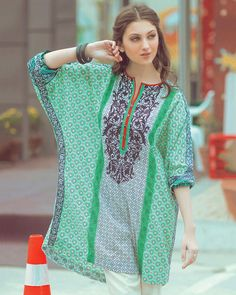 Alkaram studio Green Lawn Spring Collection Vol-1 - 1 Piece - Un-Stitched Suit…