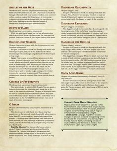 DnD 5e Homebrew — Genny's Glorious Galleria Items by Generic_Builder