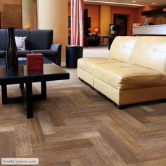 The look of wood flooring gives any room the feel of luxurious comfort. Shop South Cypress today for our great selection of wood look tile & wood grain tile! Wood Plank Flooring, Real Wood Floors, Wood Tile Floors, Kitchen Flooring, Walnut Floors, Flooring Ideas, Planks, Hardwood Floors, Wood Like Tile