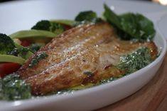 Taze Ot Sosunda Levrek Turkish Recipes, Fish Dishes, Food Blogs, Fish Recipes, Seafood, Chicken, Sea Food, Buffalo Chicken, Rooster