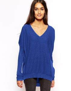 Glamorous Fine Gauge Jumper with V Neck