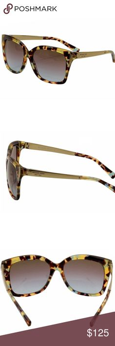 Authentic New Michael Kors Taormina Sunglasses Oversized frames lend a bold edge to these tortoiseshell Michael Kors sunglasses. Metallic detailing at temples. Tortoiseshell/Turquoise.  MK Case and cleaning cloth included. BRAND NEW Plastic frame Blue Gradient lens Non-polarized Lens width: 57 millimeters Bridge: 16 millimeters Arm: 135 millimeters Height 2.25in / 5.5cm Michael Kors Accessories Sunglasses
