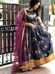 Threads always endeavour to bring customer delight as the highest Long Gown Dress, Lehnga Dress, Long Frock, Long Gowns, Lehenga, Indian Long Dress, Indian Gowns Dresses, Long Dress Design, Gown Party Wear