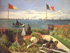 Tableaux sur toile, reproduction de Monet, Terrace At Sainte Adresse, 98x130cm