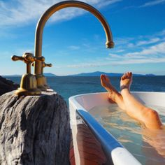 The World's Most Scenic Bathtub: Checking in to Thalia Haven on Tasmania's East Coast Brisbane, Melbourne, Sydney, The Places Youll Go, Places To See, Glamping, World Of Wanderlust, Romantic Getaways, Australia Travel