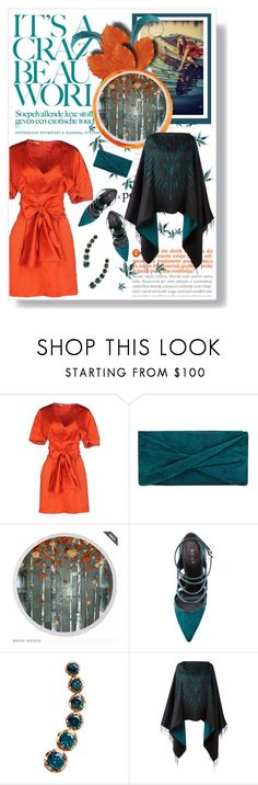 """Pieces of Orange and Dark Teal"" by adaline-blooms ❤ liked on Polyvore featuring Prada, Reiss, Annoushka and County Of Milan"