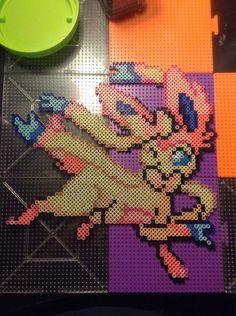 Sylveon - Pokemon perler beads by Zephorixianoth
