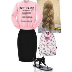 A fashion look from February 2015 featuring Warehouse mini skirts and Kate Spade sandals. Browse and shop related looks.
