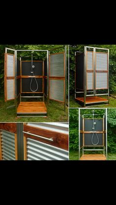 how about putting some wheels on the bottom - How To Build An Outdoor Shower
