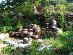 Jangdokdae (Korean: 장독대): Jars used typically for fermenting kimchi, soybeans etc. These jars are also used for storing grains.