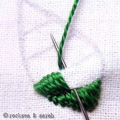 encroaching satin stitch | Sarah's Hand Embroidery Tutorials