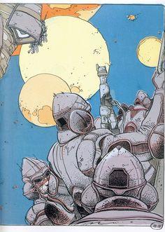 "From ""Exterminateur by Enki Bilal Manga Artist, Comic Artist, Illustrations, Illustration Art, Bilal Enki, Book Creator, Bd Comics, Comic Drawing, Chef D Oeuvre"