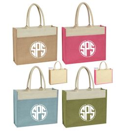 Elements of Spring with these beautiful natural Jute Tote Bags. Large imprint area. Naturally biodegradable, reusable and recyclable.
