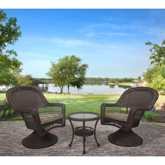 Have to have it. Cape Cod  All-Weather Wicker 3 Piece Swivel Rocker Set $349.99