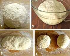 Thin Crust Pizza Dough3 1/2 cups all-purpose flour 1/4 cup whole-wheat flour 1 package (2 1/2 teaspoons) quick-rise yeast 1 tablespoon sugar 1 tablespoon salt 1 1/4 cups warm water (110 degrees--I usually warm mine for about 20-25 seconds in the microwave), plus extra as needed 2 tablespoons olive oil