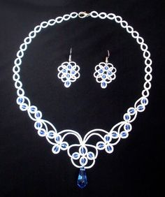 Yulia boda nupcial Tatted collar pulsera fibra por DASHARTSTUDIO