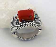 Raymond C. Yazzie Sterling Silver Ring.   #nativeamericanjewelry     http://www.leotasindianart.com/