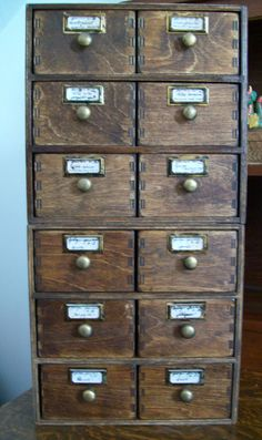 Ikea Drawered Boxes into Faux Antique Specimen or Shop Cabinets