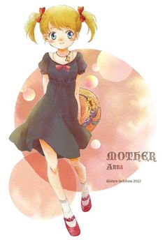 This Is Anna from MOTHER. She is a cute little girl who possesses Great PSI Powers. At the end...she falls in love with Ninten