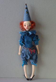 Mini art doll OOAK by VilmaDollsHouse on Etsy
