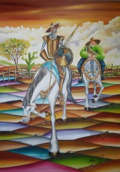 Dom Quixote 50 x 70 cm OST Alexander Pacheco. Man Of La Mancha, Dom Quixote, Don Miguel, Great Novels, Chivalry, Arte Pop, Sculpture, Mixed Media Art, Golden Age