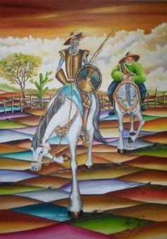 Dom Quixote 50 x 70 cm OST  Alexander Pacheco.