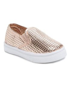 Look what I found on #zulily! Rose Gold Perforated Sneaker #zulilyfinds
