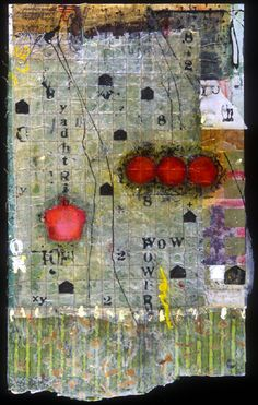 mixed media Encaustic art . . .Mary Black