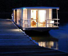 MetroShip Prefab Modern Houseboat #prefab #houseboat #boat