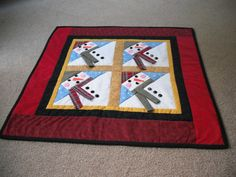 Snowman Christmas Table Topper / Wallhanging by mousessewingroom, $34.99