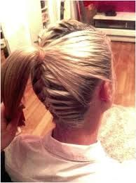 Image result for two braids into a ponytail