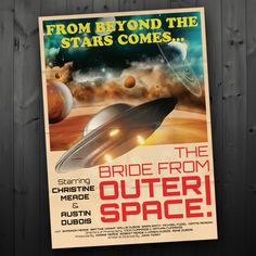 Vintage SciFi Movie Poster Wedding Program / by FancyBeastDesigns