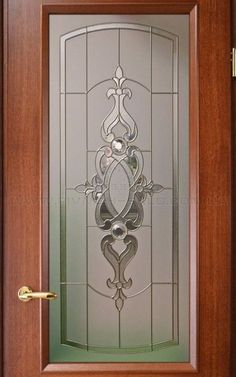59 ideas wooden glass door design window for 2019 Glass Partition Designs, Window Glass Design, Frosted Glass Design, Frosted Glass Door, Stained Glass Door, Stained Glass Designs, Stained Glass Panels, Etched Glass Door, Leaded Glass