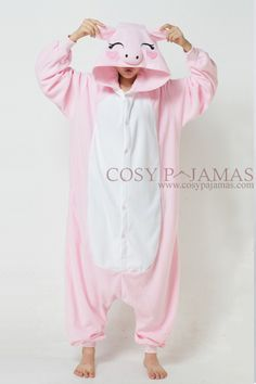 Pink-Pig-Fleece-Animal-Adult-Onesie-Kigurumi.jpg 600×900 pixels