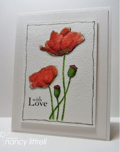 CAS Poppies with Love