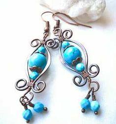 Ludwika Lipińska | Sklep handmade Mała Fabryczka Wire Earrings, Drop Earrings, Malaga, Jewelry, Jewels, Schmuck, Drop Earring, Jewerly, Jewelery