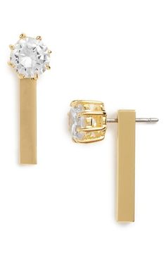 Covet+Cubic+Zirconia+Drop+Back+Earrings+available+at+#Nordstrom