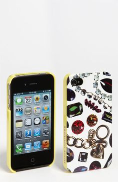 Juicy Couture 'White Gem Print' iPhone 4 & 4S Case available at #Nordstrom hahaha i love this it's hideous loveeeee