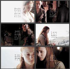 Sansa Stark and Robb Stark