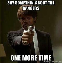 Love It! Go Rangers!