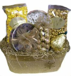 Gold Glitter Oval with Snowflake #Christmas #Gift #Basket #Naperville #Naper #Nuts #Sweets