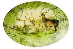 Hand-Decoupaged Woodland Caribou Tray